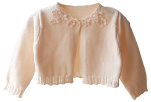 C1743W FLOWER CARDIGAN white