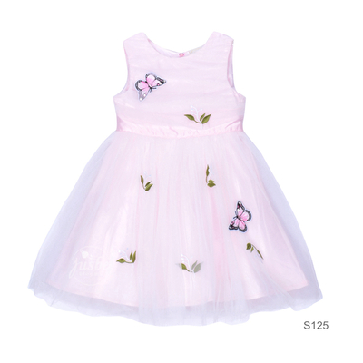 S125 Butterfly Dress Pink