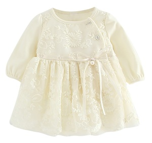 B1705W Baby lace dress white