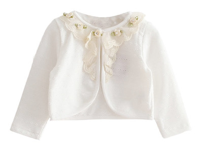 C1744W FLOWER LACE CARDIGAN white