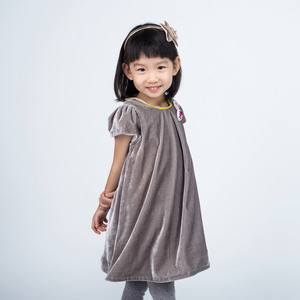 K1725G Girl Dress Grey