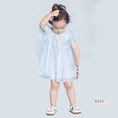S373 Necklace Dress Blue