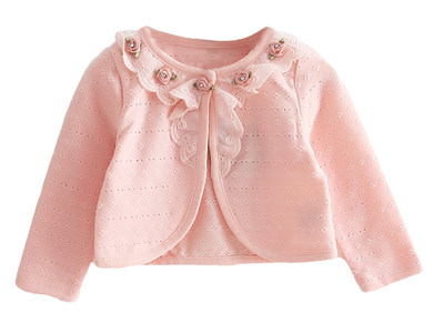 C1744P FLOWER LACE CARDIGAN pink